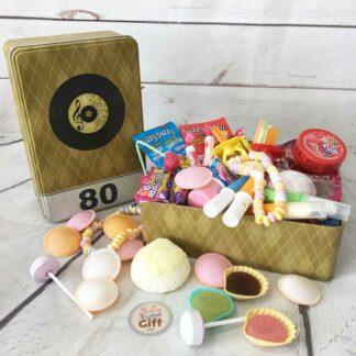 Coffret bonbons des années 70 - Boîte en métal rétro 70