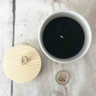 Bougie parfumée en Bois et en céramique - Les règles de la famille