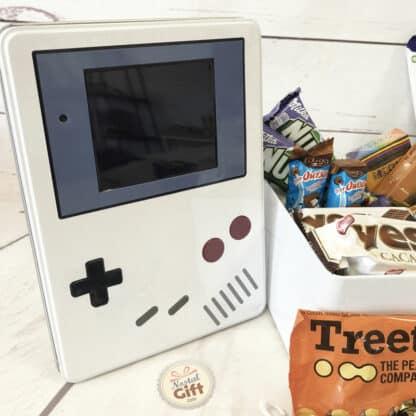 Coffret cadeau - Boîte en métal console rétro - Chocolats des années 80