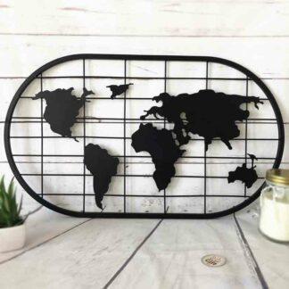 Pêle-mêle carte du monde métal