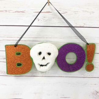 Décoration d'Halloween - BOO ! à suspendre