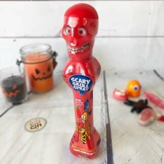 Halloween bonbon en spray tête de mort : Scary Skull Spray
