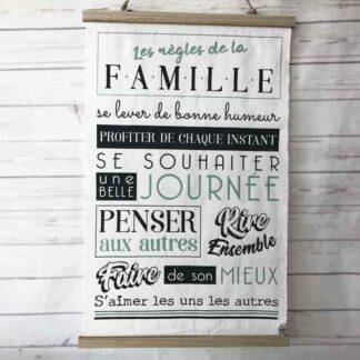 Décoration textile murale - Les règles de la famille