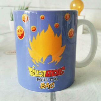 "Mug ""Félicitations  pour ton bac "" Héro Manga"