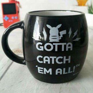 "Pokemon - Mug Noir Pokeball ""Gotta Catch 'em all"""