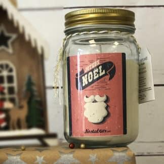 Bougie jar Joyeux Noël