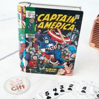 Marvel - Jeu de 54 cartes Comics Book en métal