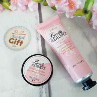 Kit crème pour mains et baume à lèvres Disney La belle et la bête