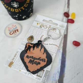 Porte clé Harry Potter - Carte Maraudeur