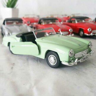 Miniature voiture Mercedes-Benz 190SL de 1955 capotée (12 cm)