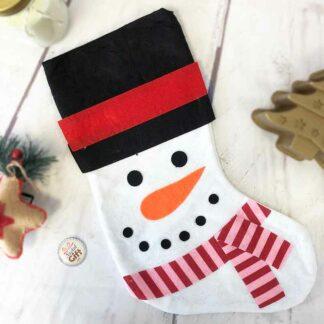 Chaussette de Noël  - Décoration Bonhomme de Neige