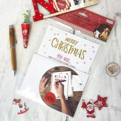 Papier à lettre de Noël avec enveloppe - Merry Christmas