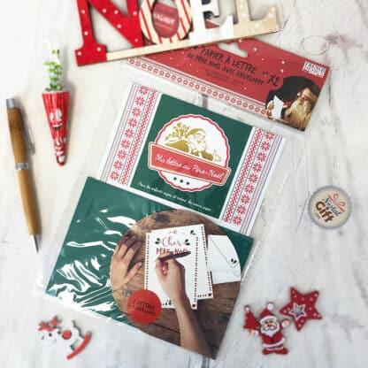 Papier à lettre de Noël avec enveloppe - Ma lettre au Père-Noël