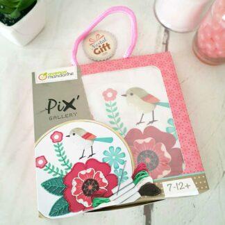 Kit de broderie - Rose et Oiseau Pix Gallery