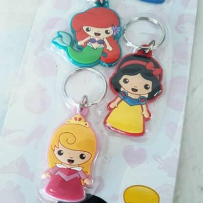 Lot de 5 mini porte clés Disney Princesses