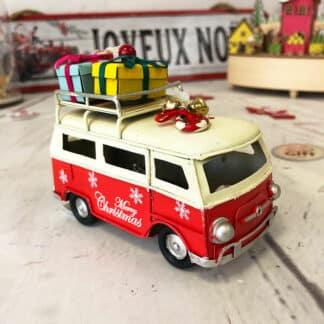 Décoration de noël - Van vintage lumineux (led) avec cadeaux