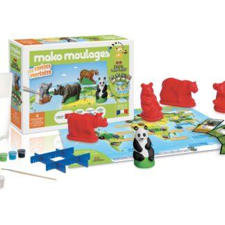 Mako moulages Les espèces protégés - Défi Nature - 4 moules