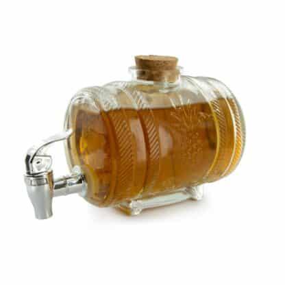 Tonneau à whisky en verre(1 litre)