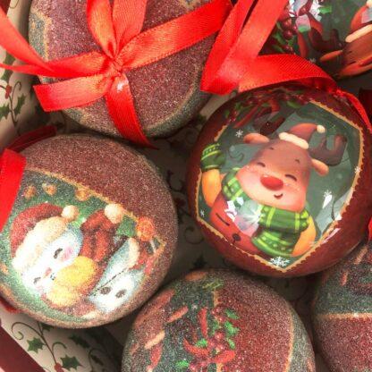 Lot de 7 boules de Noël - Boîte Renne de Noël -