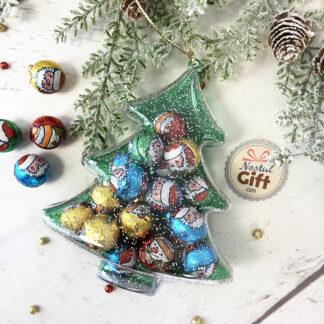 Décoration de noël - Sapin remplie de chocolats