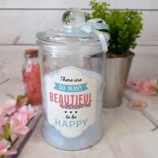 Grande bougie Parfumée Bonbonnière -« There are so many reasons to be happy »