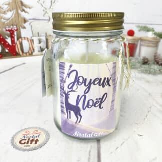 Bougie Jar - Noël cerf