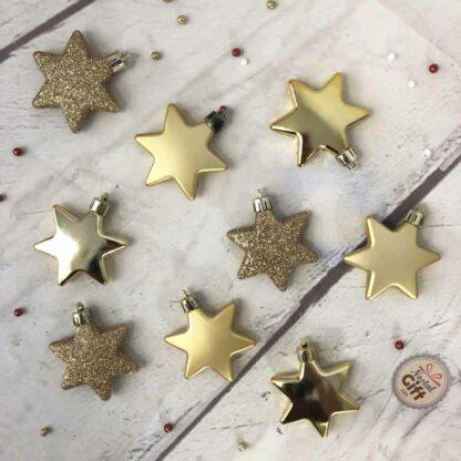 Lot de 9 étoiles de noël à suspendre pour sapin
