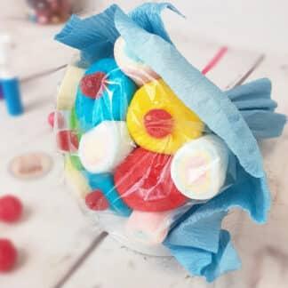 Petit bouquet de bonbons - Rose (100g)
