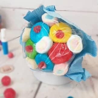 Petit bouquet de bonbons - Bleu (100g)