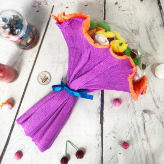 Grand bouquet de bonbons - Violet (310 g)