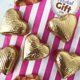 Cœur chocolat au lait fourré au praliné x 10