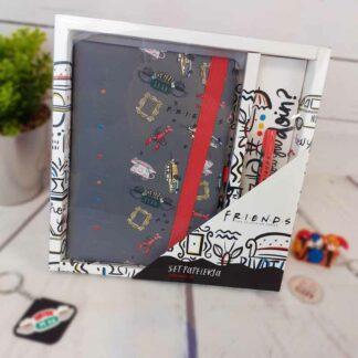 Friends - Coffret cadeau papeterie : cahier et stylo