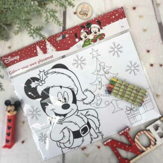 Sets de table de Noël Mickey à colorier