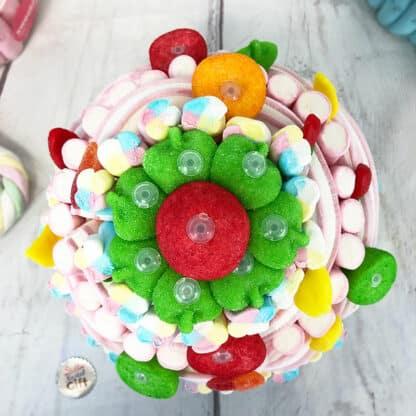 Grande Pièce montée de bonbons guimauve