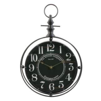 Horloge Murale aspect fer forgé - 27 cm