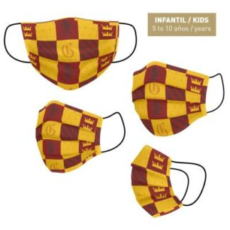 Harry Potter - Masque barrière bordeaux lavable pour enfant