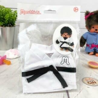 Vêtements Peluche Monchhichi Kiki - Kimono judo ceinture noire