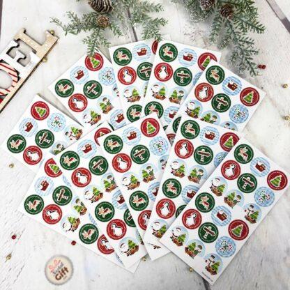Autocollants stickers de Noël x 10
