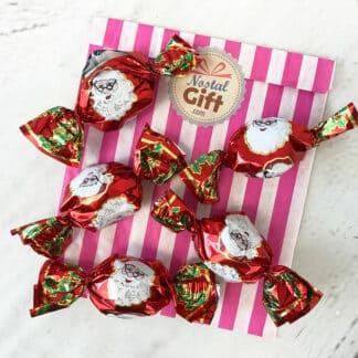 Papillote de noël au chocolat au lait fourré au praliné noisettes x 5