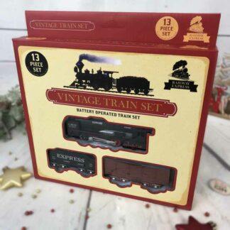 Ensemble miniature train vintage 13 pièces