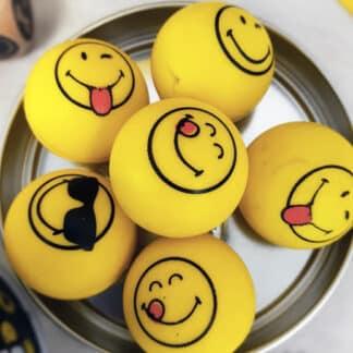 Smiley - Balles rebondissantes (lot de 6)