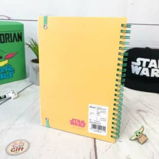 Star Wars The Mandalorian - cahier A5 orange Bébé Yoda