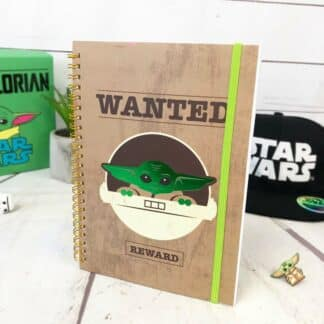 Star Wars cahier A5 The Mandalorian - Wanted bébé Yoda