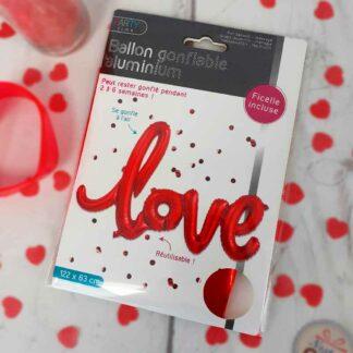 Ballon gonflable en aluminium - Love