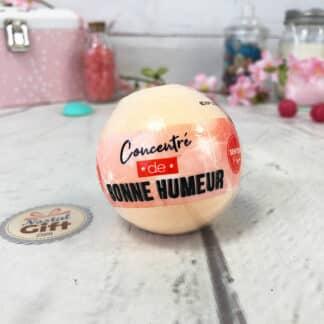 Boule de bain effervescente Orange - Concentré de bonne humeur