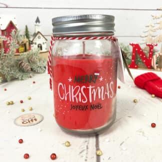 Bougie jar Joyeux Noël - Merry Christmas