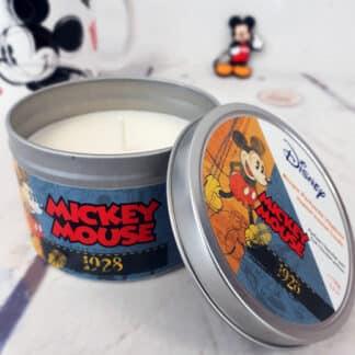 Bougie vintage Mickey 1928 en métal - Parfum chocolat noir