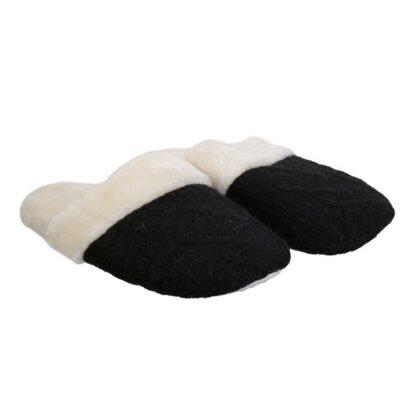 Chaussons tricot femme - Noir