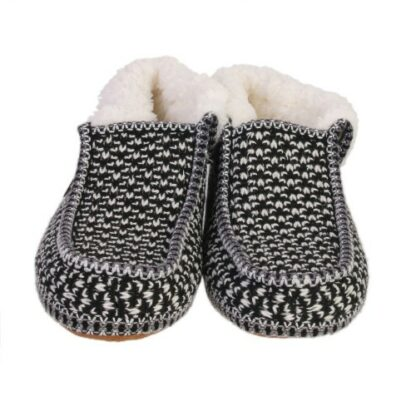 Chaussons sherpa homme  - Noir