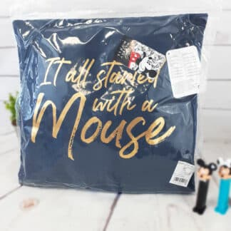 """Disney - Coussin Premium Mickey 1928 """"It all started with a mouse"""" (40 x 40 cm)"""